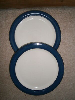 2 x STYLISH DENBY BOSTON  DINNER PLATES 10.5 INCH LIGHTLY USED CONDITION