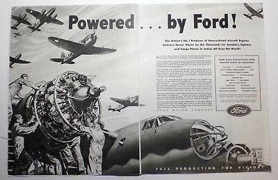 Print Ad  Ford Powered By Ford Ww2