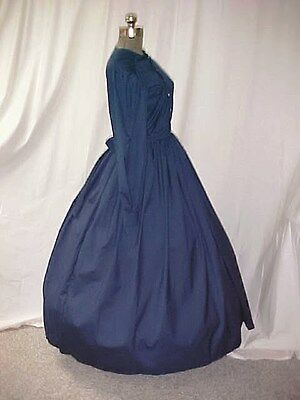 Women Civil War, Victorian, Dickens Costume Dress, Blend 4 COLORS Handmade