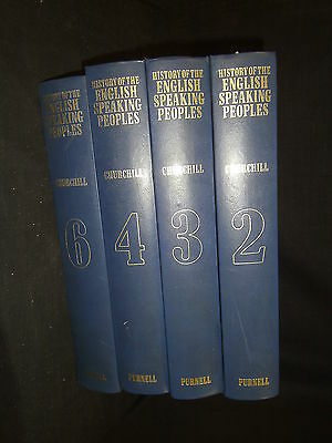 4 Volumes Of Purnell's History Of The English Speaking Peoples-Winston Churchill