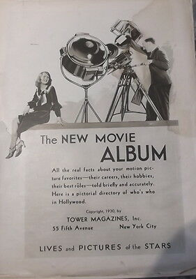 Part 1930 New Movie Album Magazine Photographs Stars of the Time
