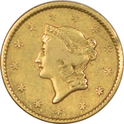 1850 $1 Liberty Head Gold Dollar - Pleasing Circulated Example!