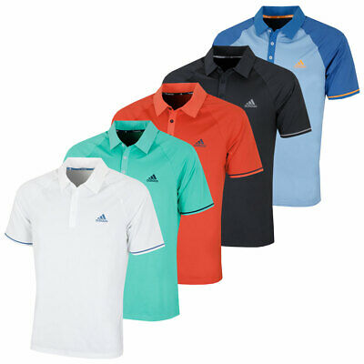 adidas Golf Mens 2018 Athletic Raglan ClimaCool Polo Shirt Top 32% OFF RRP