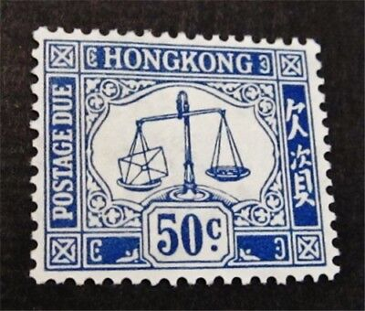 nystamps British Hong Kong Stamp # J12 Mint OG H $40