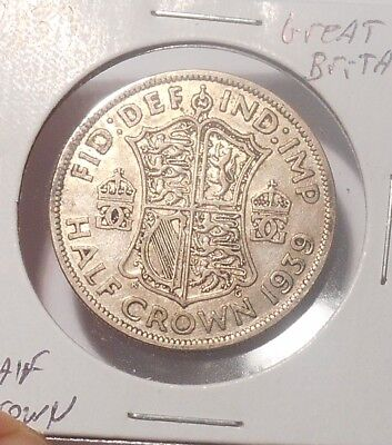1939 Great Britian Half Crown......Free Combined Shipping  Lot 756