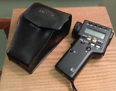 Minolta Spot Meter F In Case With Manual 1986 Dated Made In Japan
