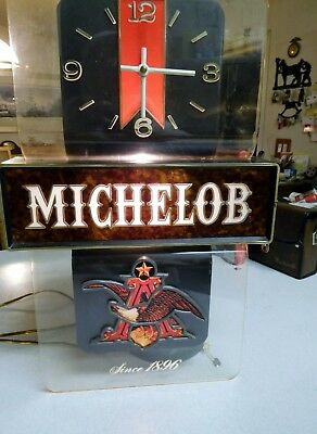 Michelob Lighted Beer Sign w/Clock