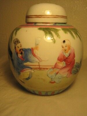 Attractive Chinese Ginger Jar Kanxi Period 1900-1910, Famille Vert