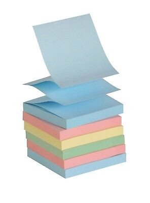 School Smart Pop Up Self Stick Adhesive Note Assorted Pastel Colors Pack Of 12