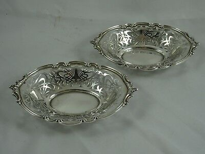 FINE pair of solid silver SWEET DISHES, 1910, 200gm - Mappin & Webb