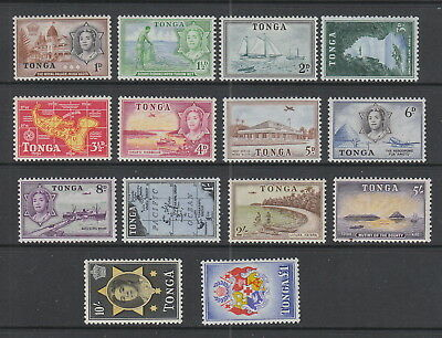 Tonga 1953 Set fine light MH , SG101-114 Cat £70