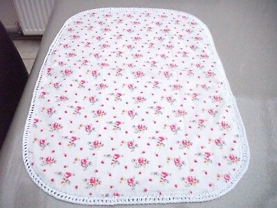Handmade baby blanket  noah pod moses basket with cath kidston fabric