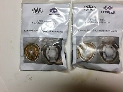 Lot Of 2 Team Wendy 4 Point Ach Chinstrap  Retrofit Kit Assembly W Hardware New