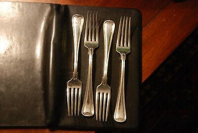 """4 Gorham Old French Sterling Luncheon Forks,  6.2 Troy oz, 7 1/4"""" No mono EXC"""