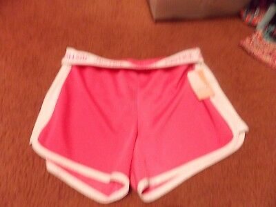 justice-girls -size 10 pink mesh shorts--nwt