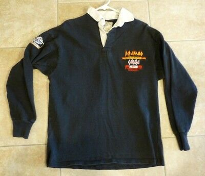 Def Leppard Seven Day Weekend 1992 Tour Canada Crew Issued Long Polo Shirt