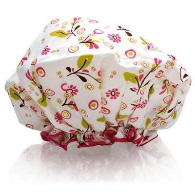NEW NWT Spa Sister Bouffant Shower Cap Olives Vines Mother's Day Gift