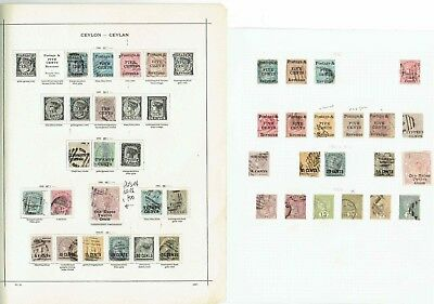#176 ANOTHER Ceylon QV 18.. Early collection on leaves x8 c£a lot Victoria