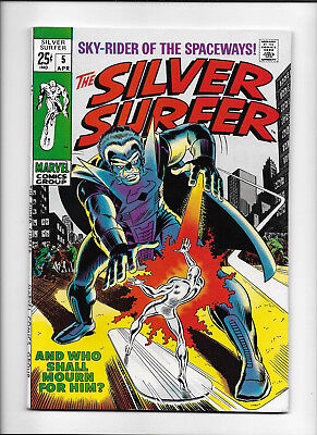 "Silver Surfer #5 [1969 Fn-] ""and Who Shall Mourn For Him?"""