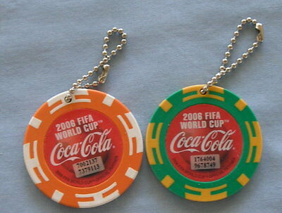 World Cup Soccer Coca Cola Key Chain Christmas Ornaments NO RESERVE