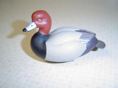 "Jett Brunet  2012  Ducks Unlimited  Decorative Duck Decoy miniature 3 3/8""  nice"