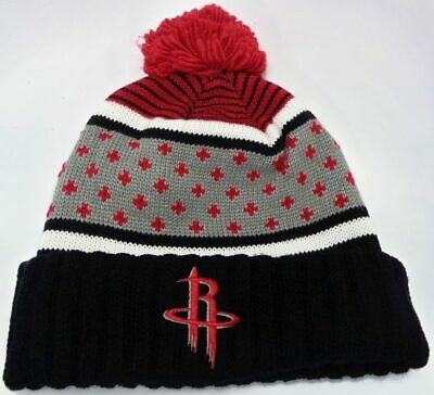 c2699d054 Houston Rockets NBA Mitchell   Ness Knit Cuffed Pom Hat Cap Toque Beanie  OSFA