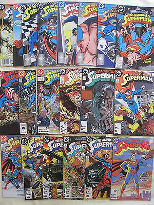 The Adventures of SUPERMAN #s 424-457. 1st 34 Wolfman et NEW LOOK ISSUES.DC.1987