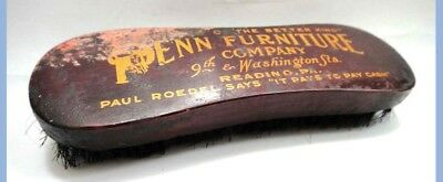 vintage/antique PENN FURNITURE CO reading pa SHOE SHINE WOOD BRUSH paul roedel