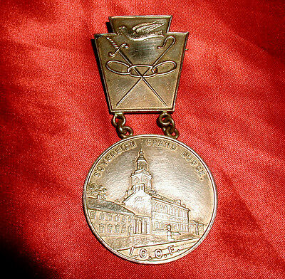 SOVEREIGN GRAND LODGE Old 1905 Rare ODD FELLOWS JEWEL! PEACE DOVE! KEYSTONE!