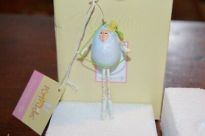 Dept. 56 Patience Brewster Krinkles Easter  Blue Mini Egg People Ornament