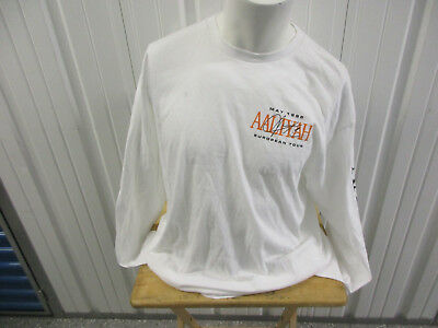 Aaliyah May 1995 European Tour White Long Sleeve Xl Shirt New W/ Tags Deadstock