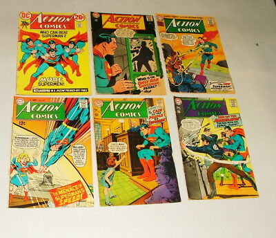 % 1960's Dc Action Comic,  Comic Book Collection Lot M-3