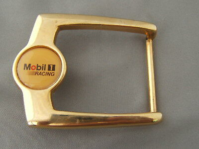 Vintage Mobil 1 Racing Belt Buckle Mobil Gas & Oil Company