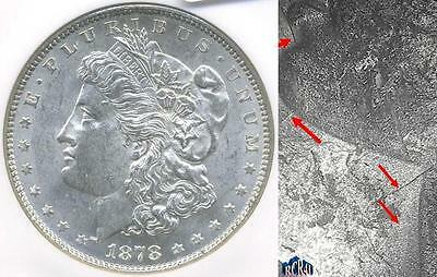 """NGC MS-61 1878-P """"VAM-190A,CLASHED OBV.n, DOUBLED MOTTO, RARITY-5"""" MORGAN$ (UOH)"""