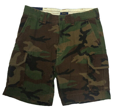 NEW Polo Ralph Lauren Classic Gellar Cargo Short, GREEN CAMOUFLAGE, Big & Tall