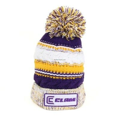**NEW Ice Armor Clam Blue Pom Ice Fishing Hat Youth Size 12196