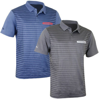 Callaway Golf 2017 Mens Ombre Pocket Opti-Dri Stretch Tech Polo Shirt
