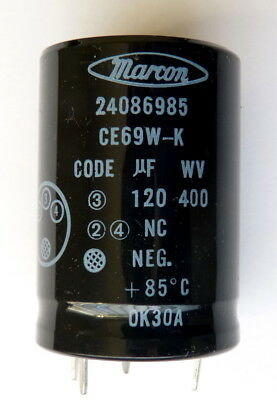 Marcon Capacitor 120uF 400 Volts DC