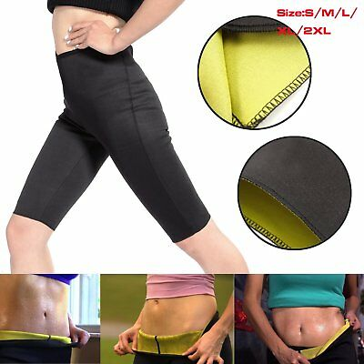 Slimming Slim Thermo Sweat Hot Neoprene Gym Trainer Pants High Waist Lot TR