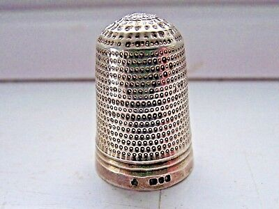 Antique Chester 1915 Sterling Silver Hallmarked Thimble Very Good See Pictures