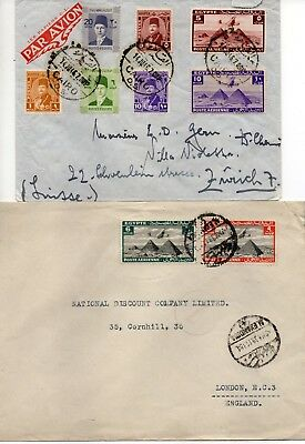 Group (6) of commercial covers pertaining to various values of the 1933/41 airs