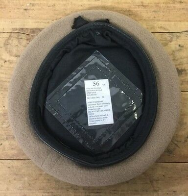 SAS SPECIAL AIR SERVICE SAND BEIGE WOOL BERET - Size: 56cm  British Military NEW