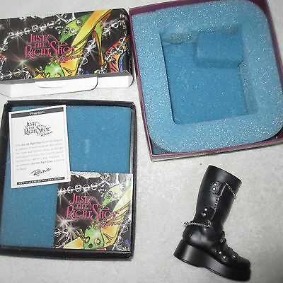 JUST THE RIGHT SHOE Phantom JTRS 25597 Miniature Collectible Boot Hipster Biker