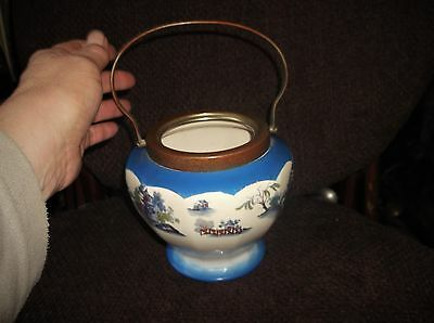 Deco Lancaster & Sandlands G.f.b. Biscuit Barrel Epns Rim & Handle Oriental