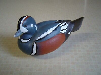 "Jett Brunet  2011  Ducks Unlimited  Decorative Duck Decoy miniature 3 3/8""  nice"