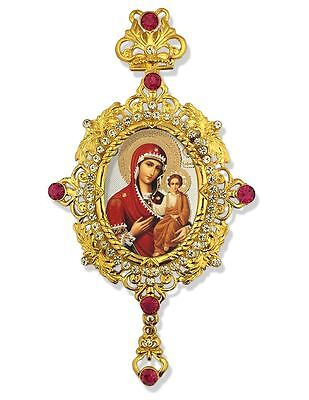 St Saint Mary Madonna and Child Orthodox Catholic Icon Pendant Crown Gift WOW !!