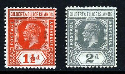GILBERT & ELLICE ISLANDS KG V 1922-27 Wmk Mult Script CA Group SG 29. SG 30 MINT