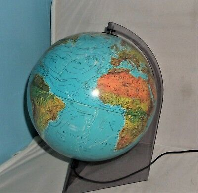 1990 SCAN PHYSICAL GLOBE (ILLUMINATED) A/S DENMARK TYPE A on stand VG UNCHECKED