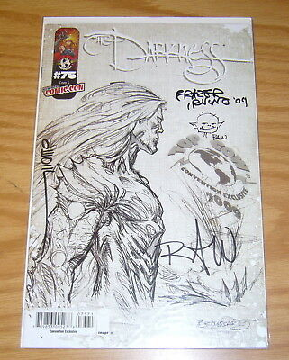 the Darkness #75G VF/NM NYCC convention exclusive signed (x3) with sketch (x2)