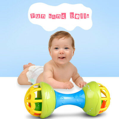 Baby Musical Hand Shaking Rattle Toy Todder Educational Teether Dumbbell Toy